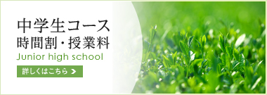 中学生コース 時間割・授業料